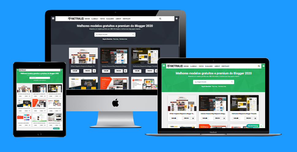 Free Netralid Template V2 Responsive Blogger Template