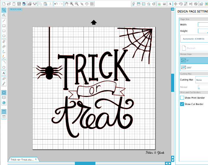 hand lettered trick or treat cut file
