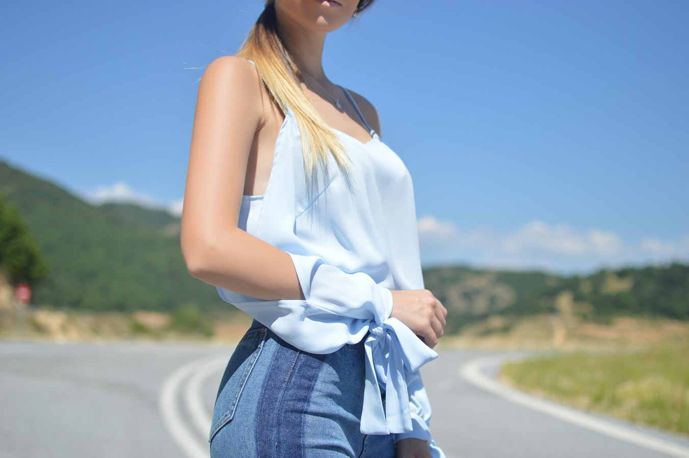 girl in camisole top