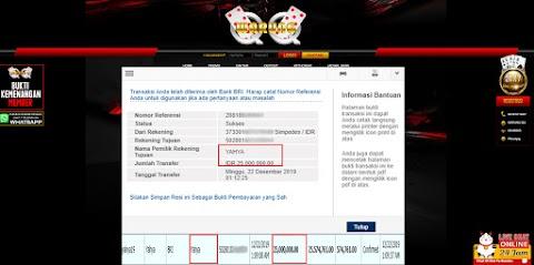 Selamat Kepada Member Setia WARUNGQQ Withdraw RP 25.000.000