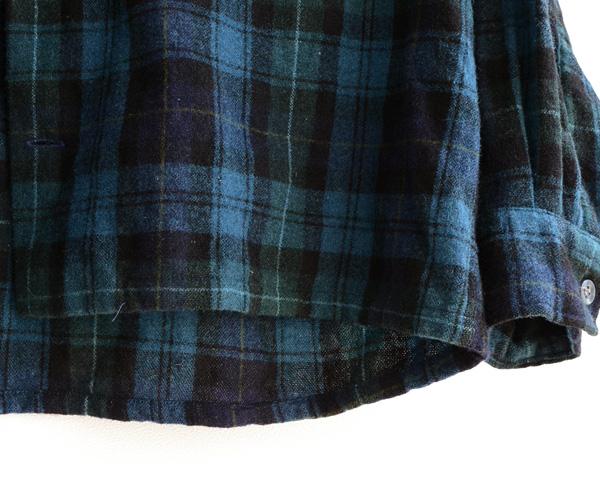 60sヴィンテージSearsオープンカラーボックスウールシャツ