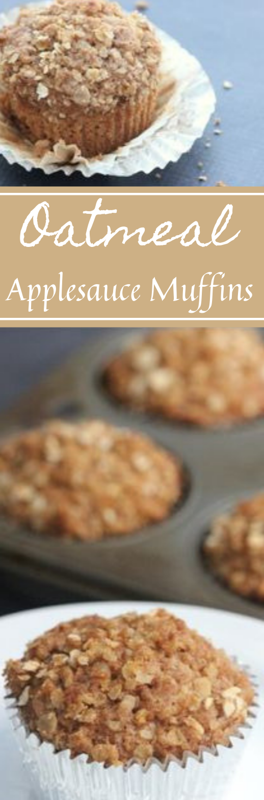 OATMEAL APPLESAUCE MUFFINS #muffins #cake #apple #oatmeal #muffins