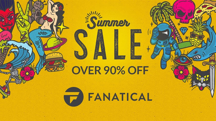 fanatical summer sale 2019 pc games steam 90% off