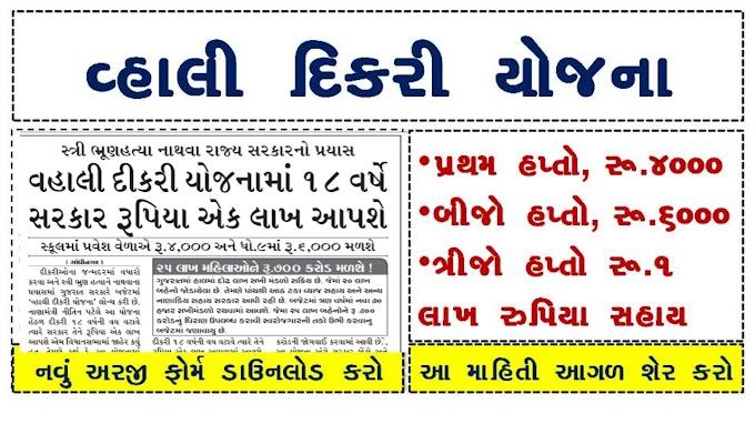 Gujarat Vahli Dikri Yojana Form 2020/21