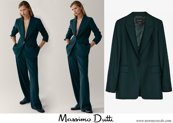 Crown Princess Mary wore Massimo Dutti wool suit