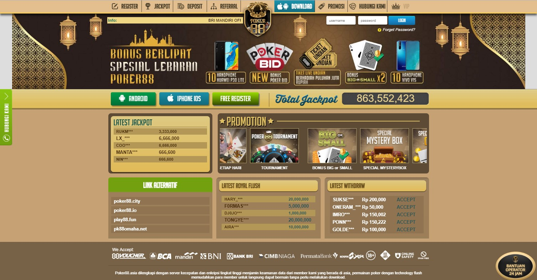 Cara Daftar Poker88 Gratis dan Cepat Kaya