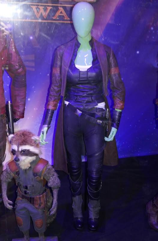Zoe Saldana Avengers Infinity War Gamora costume