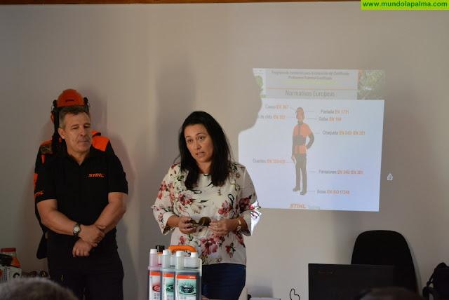 El Cabildo forma a personal de Medio Ambiente en prevención y manejo de maquinaria forestal