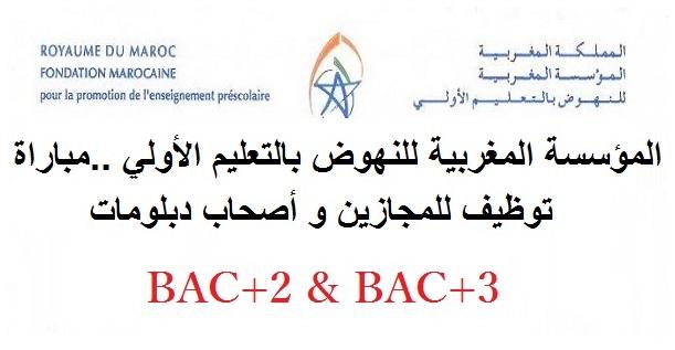 المؤسسة المغربية للنهوض بالتعليم الأولي