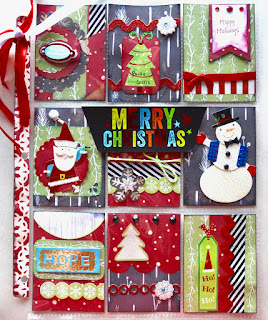 How to create pocket letters, Fun Christmas themed pocket letter