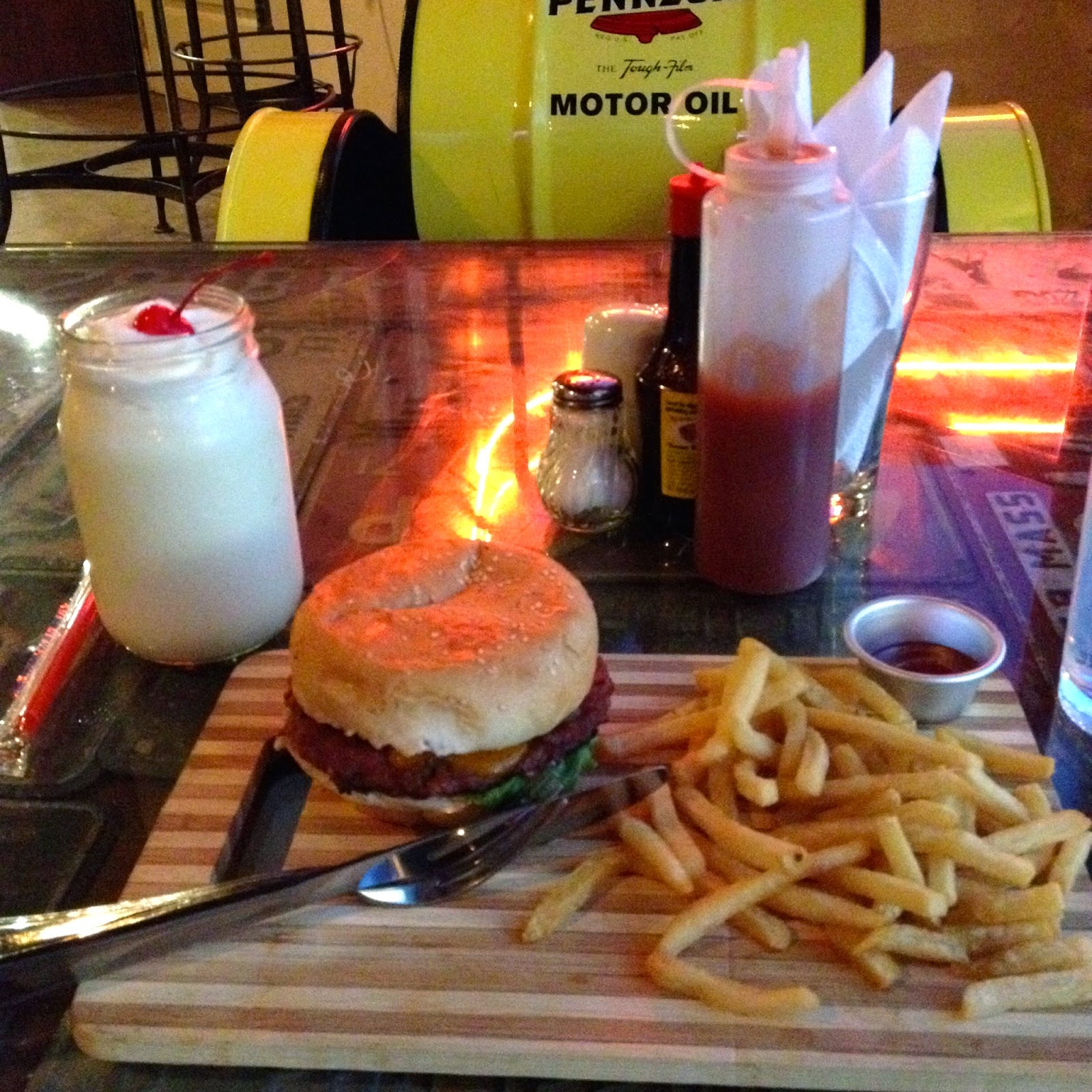 Cafe Racer Cebu shake and burger