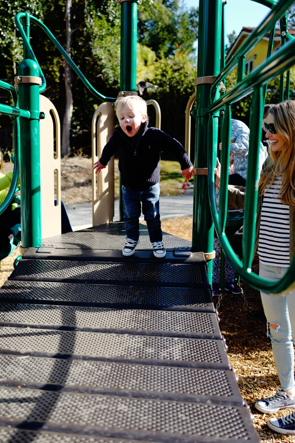 Playground fun at Shoup Park in Los Altos