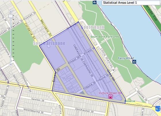 Brisbane Apartment: South Bank Census Data