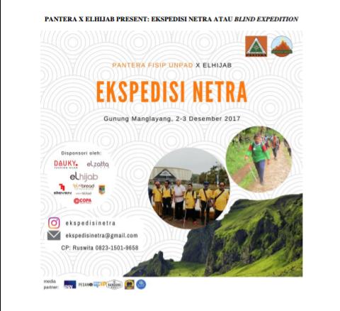 PANTERA X ELHIJAB PRESENT: EKSPEDISI NETRA ATAU BLIND EXPEDITION