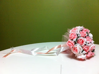 pembe beyaz gelin buketi gelin el çiçeği satın al