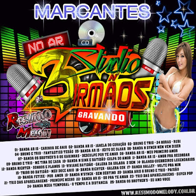 Cd Melody Marcante - Studio 3 Irmãos - Ferreira Gomes