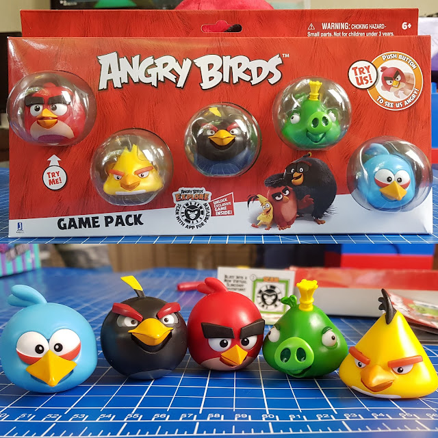 Angry Birds Mission Game Pack and underneath the 5 characters out of the box