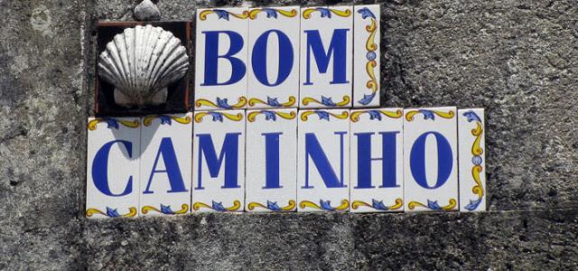 placa do Caminho de Santiago de Compostela