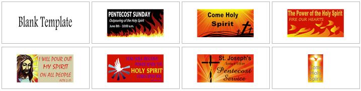Pentecost Banner Templates | Banners.com