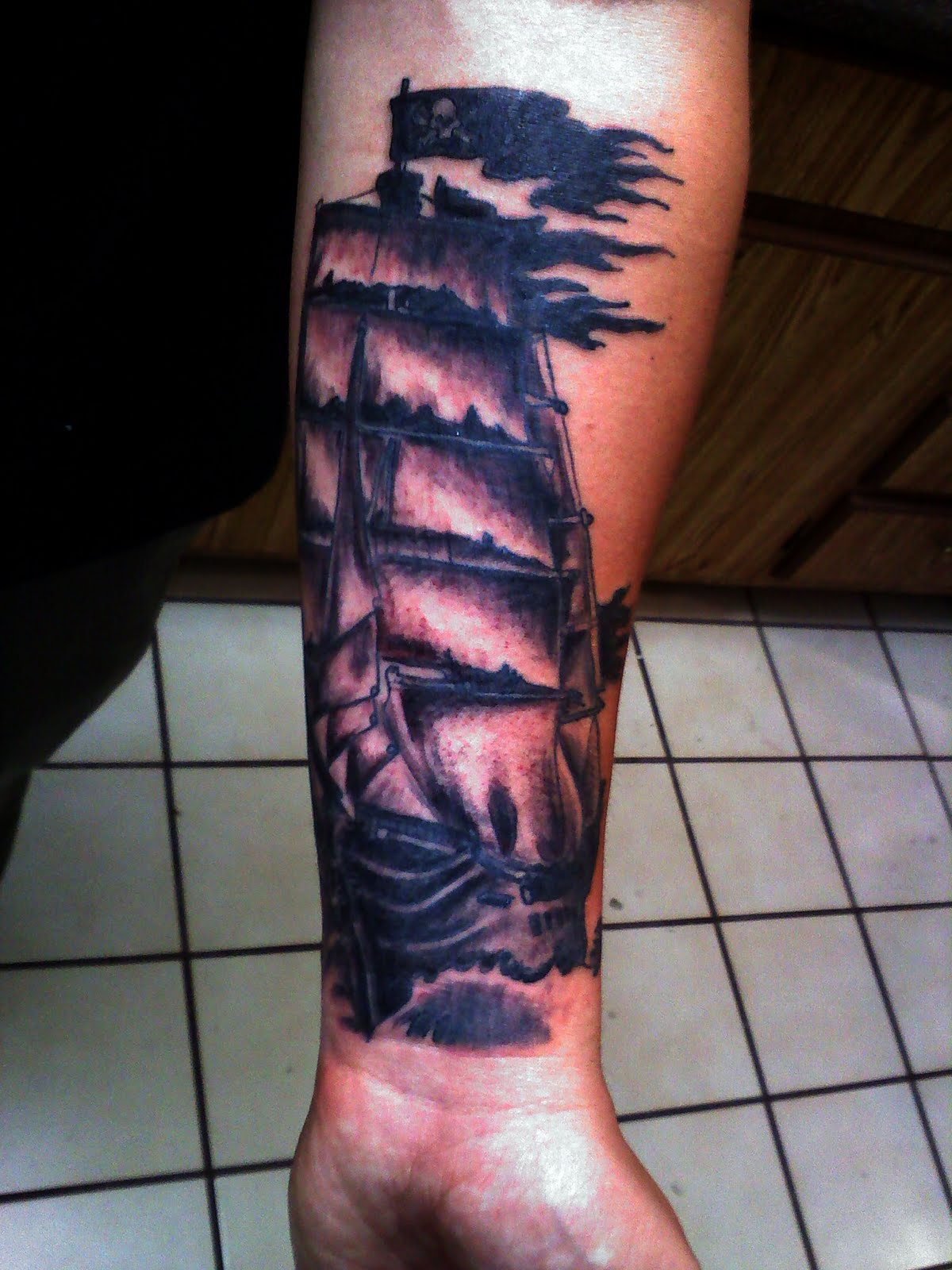 Tattoo Ghost Ink Pirate Ship