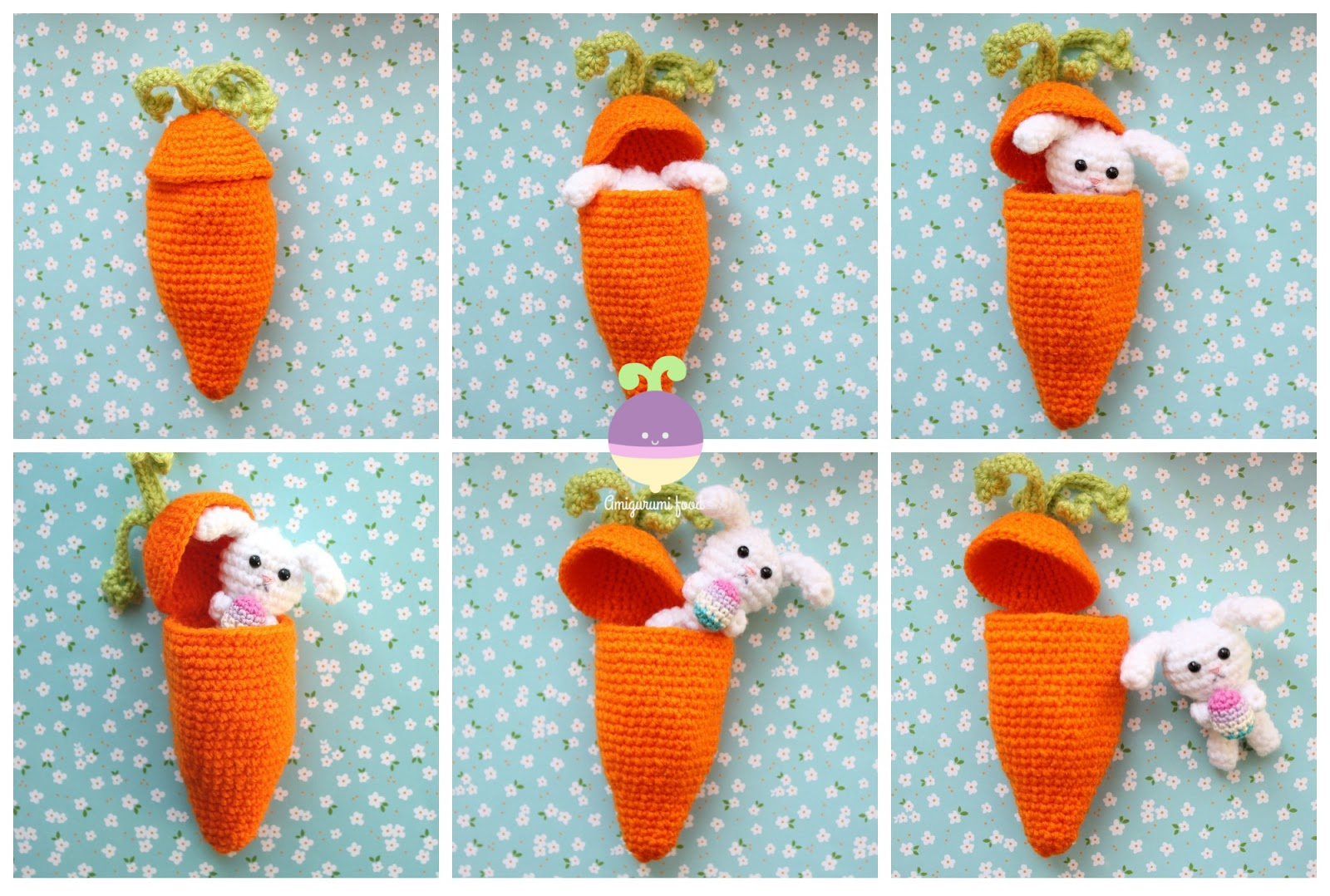 Amigurumi Food: Carrot Surprise Easter Bunny Free Crochet Pattern
