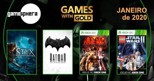 Games With Gold - Janeiro de 2020