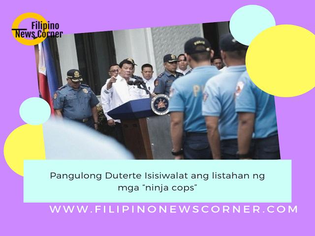 """Mga """"ninja cops"""" na sangkot sa recycling ng nakukumpiskang droga ay isisiwalat ni Pangulong Rodrigo Duterte sa pagbabalik niya mula sa official visit sa Russia."""