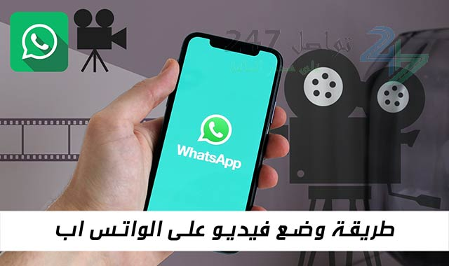 طريقة وضع فيديو على الواتس اب