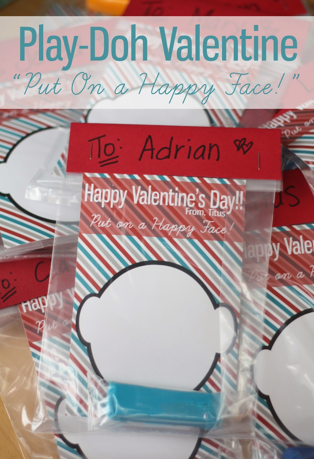 E Fast Lane Happy Face Play Doh Valentine Free Printable