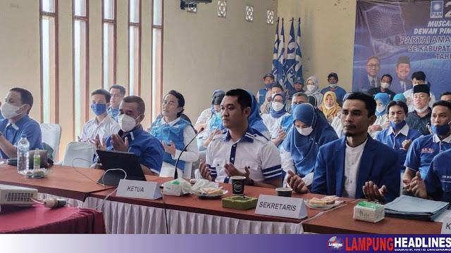 DPD PAN Tanggamus Gelar Muscab, Perkuat Barisan Dan Makin Solid Jelang Pemilu