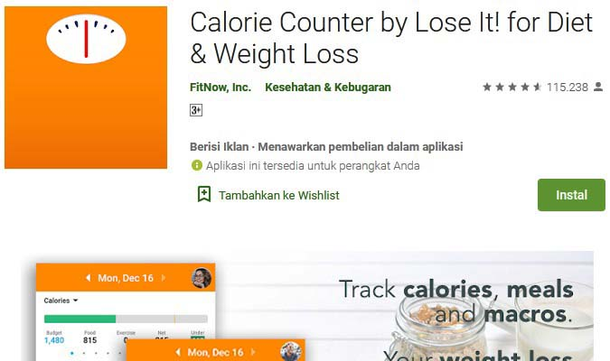 aplikasi penghitung kalori