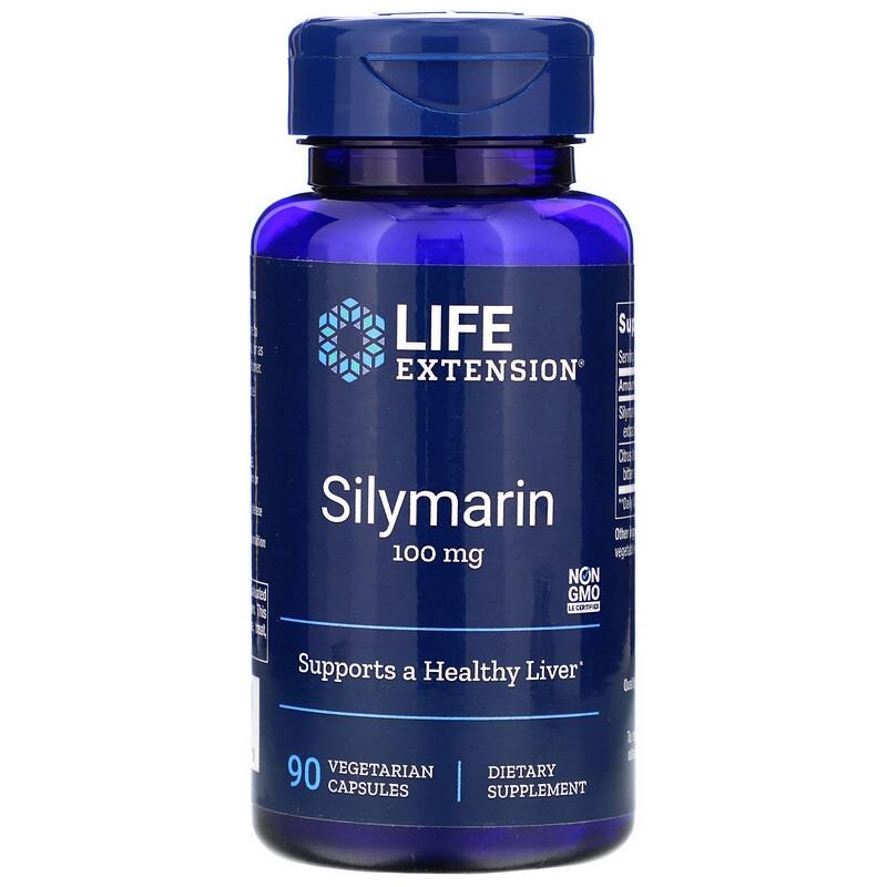 Life Extension, Силимарин, 100 мг, 90 вегетарианских капсул