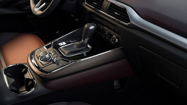 Interior trim of 2017 Mazda CX-9 Signature