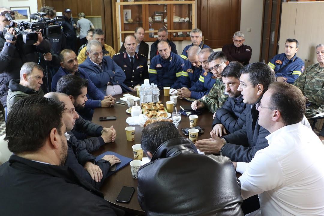 Αυτοψία του Περιφερειάρχη Κεντρικής Μακεδονίας Απόστολου Τζιτζικώστα στις πληγείσες περιοχές της Χαλκιδικής από τις πλημμύρες