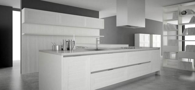Cocinas modernas de color blanco colores en casa for Muebles de cocina modernos color blanco