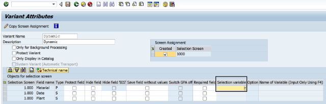 SAP ABAP Central: Selection Screen Variants - Part III