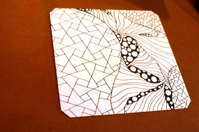 eaxy zentangle line work
