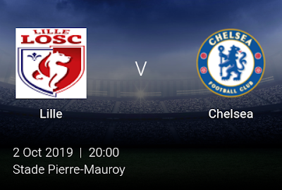 LIVE MATCH: Lille Vs Chelsea UEFA Champions League 02/10/2019