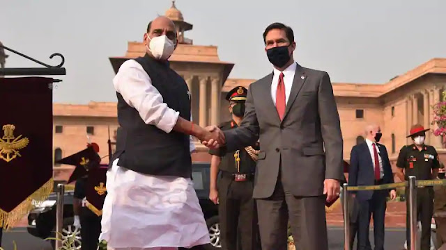 Rajnath Singh, Mark Esper for India-Us 2+2 dialogue of 2020