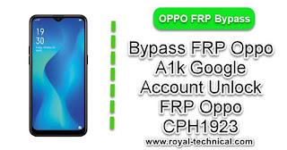 حذف جوجل اكونت اوبو FRP Oppo A1k CPH1923