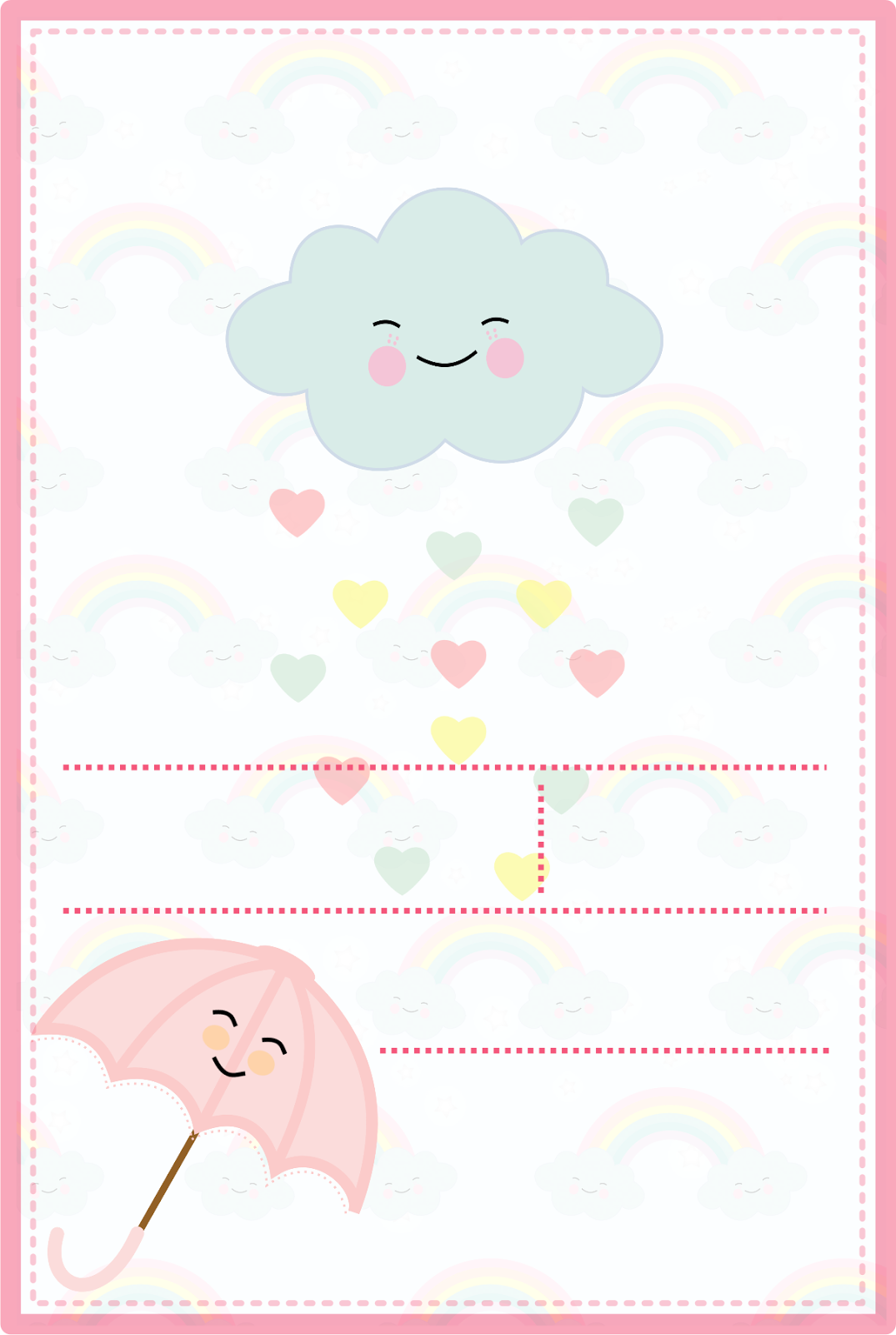 Convites tema chuva de amor para menina gr tis para baixar for Paginas para hacer planos gratis