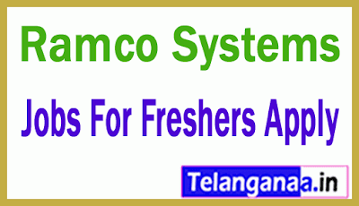 Ramco Systems Recruitment Jobs For Freshers Apply