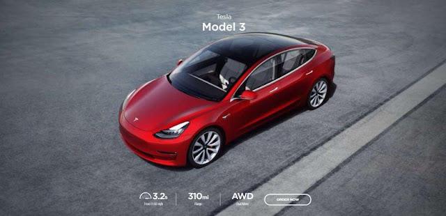 Tesla Model 3 Termurah dari semua Model Mobil Listrik Tesla