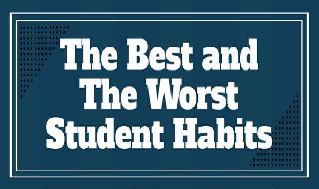 The Best and the Worst Student Habits #infographic,student habits, good student habits