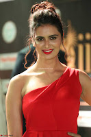 Meenakshi Dixit in Red One Shoulder Red Zipped up gown at IIFA Utsavam Award 59.JPG