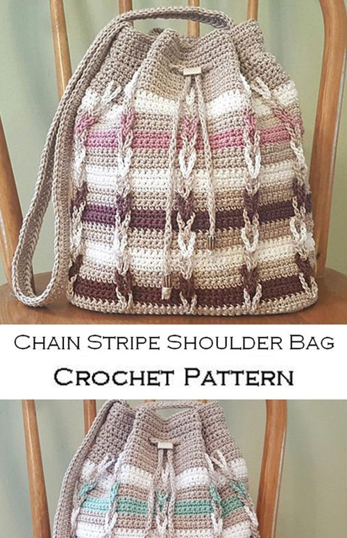 Chain Stripe Shoulder Bag - Crochet Pattern
