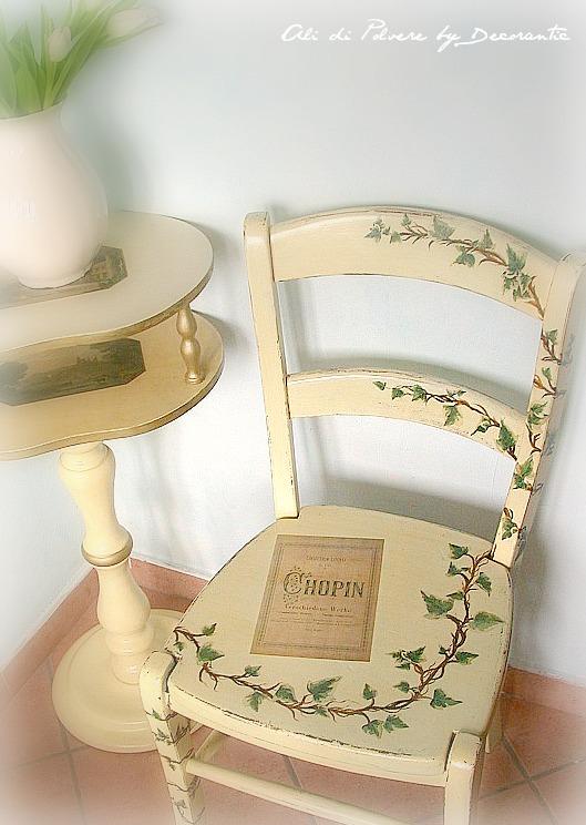 La sedia di chopin for Decorare sedia legno