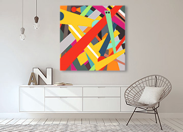 abstract artist, geometric art, geometric wall art, abstract painting, artist, buy art online, contemporary art, digital painting, large square abstract, multi coloured, original artwork,