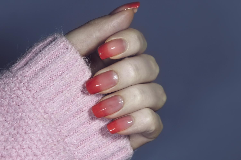 strawberry jelly manicure