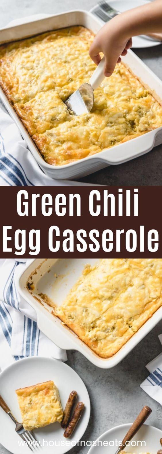 Green Chili Egg Cassserole